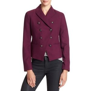 BR purple wooly military huckleberry blazer jacket